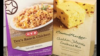 h e b tex s ranch chicken dinner kit h e b cheddar jalapeno cornbread mix preparation review