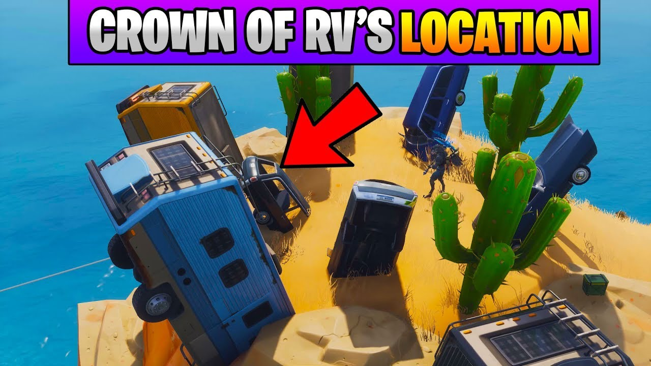 Fortnite Dance On Top Of A Crown Of Rv S Location Stage 1 Fortnite
