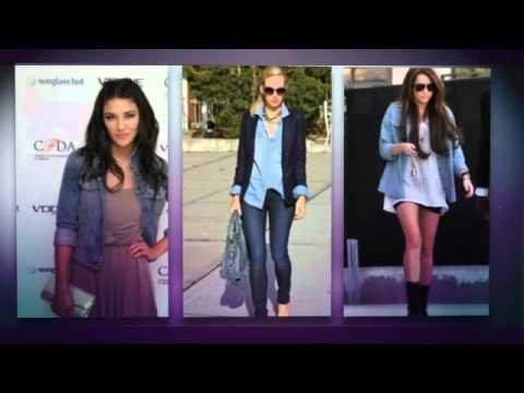 Женские джинсовые рубашки - 2014