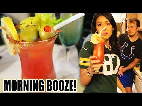 🍻 ACCEPTABLE MORNING BOOZE: Bloody Mary, Mimosa, Peach Bellini 🍺 #TastyTuesday