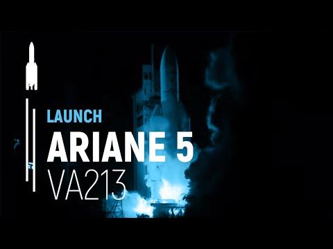 Embarked camera on Ariane 5 ES - Flight VA 213
