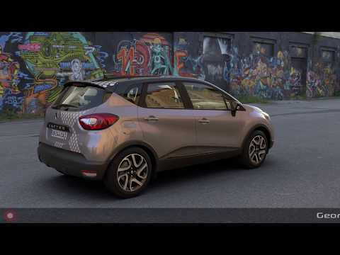 Real-time rendered animation with a photorealistic Renault Captur