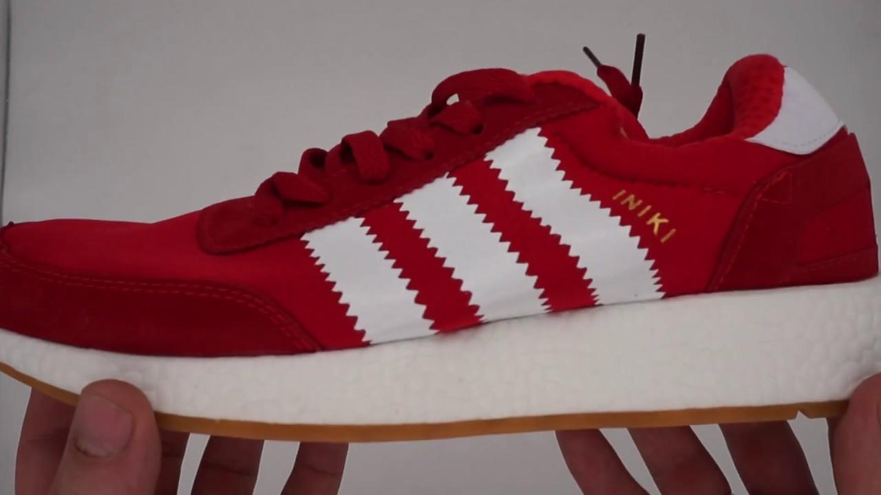 6be19e16 Кроссовки для бега Adidas Iniki Runner красные - YouTube