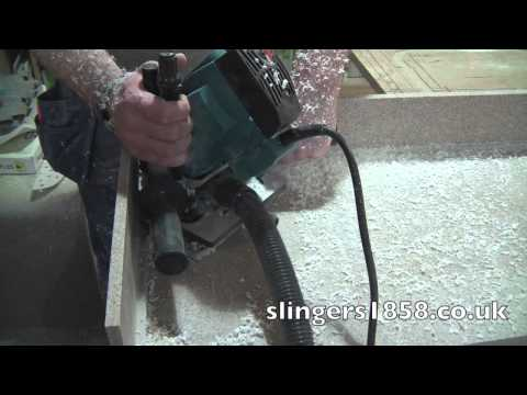 Plunge Cove Router for Corian & LG Hi-Macs Solid Surface Fabrication