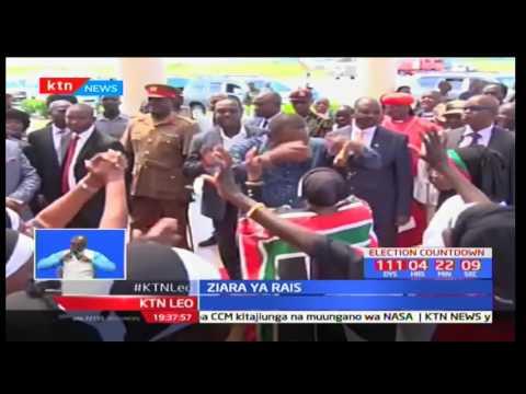 Rais Uhuru Kenyatta amepata mapokezi ya kufana katika kaunti ya Kisumu