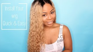 How To Install a Full Lace Wig NO GLUE/TAPE/SEWING