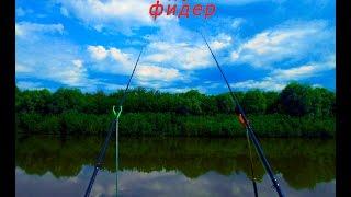Рыбалка на Свияге. Ловля карася на фидер, видео. Эквилибристика.
