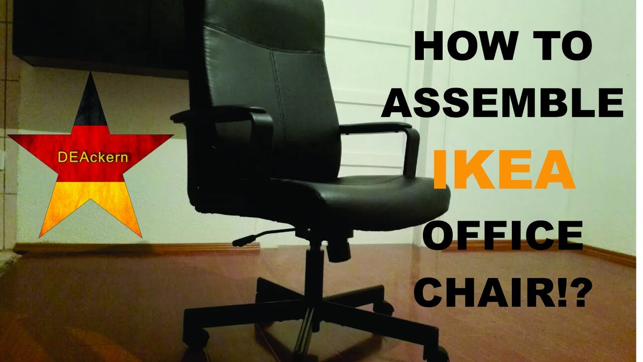 revolving chair assembly outdoor wicker with ottoman ikea office millberget youtube