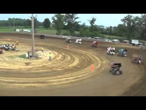 7/26/2014 SIR at Marion, IL POWRi Micro-Sprint Heat Race #1