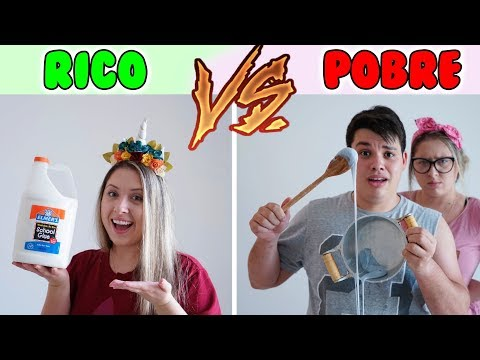 RICO VS POBRE FAZENDO AMOEBA / SLIME #1 | Tata E Henrique WEBSERIE