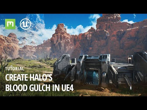 Create Halo's Blood Gulch in UE4