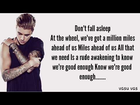 Justin Bieber - Don't Give Up (Lyrics)