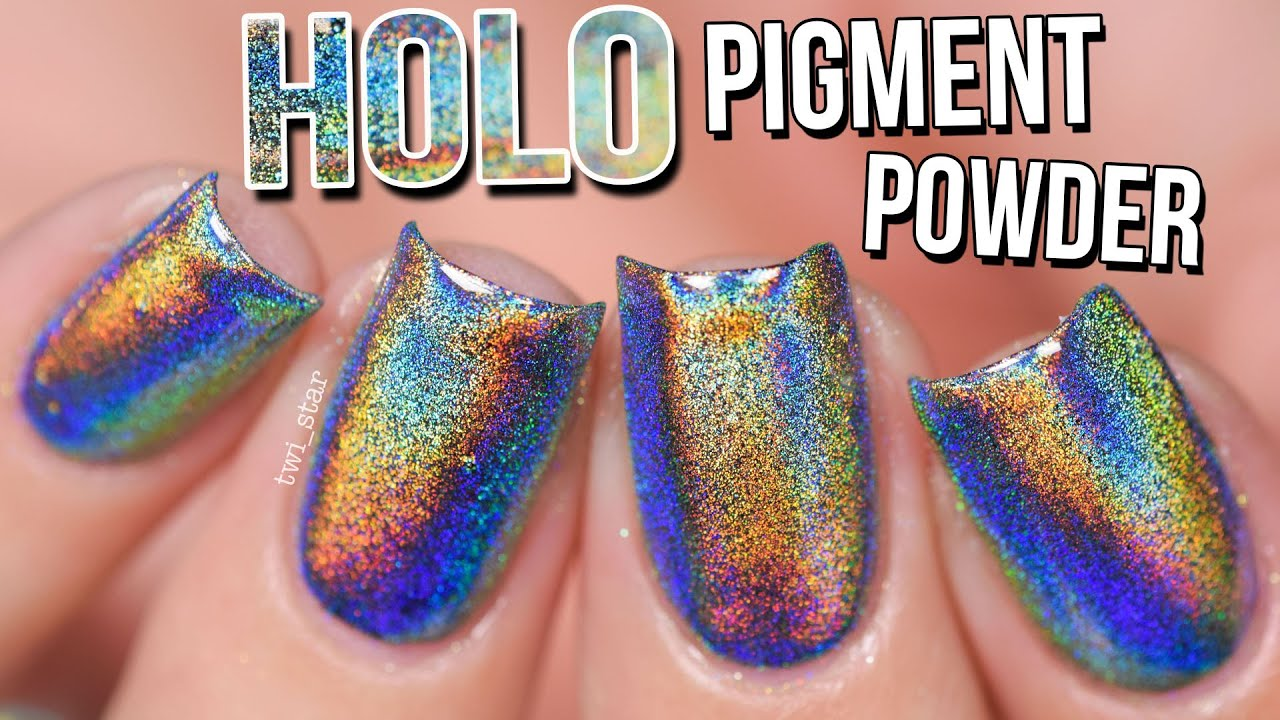 Holo Mirror Chrome Pigment Powder Nails OMG! Gel vs Polish - How to ...