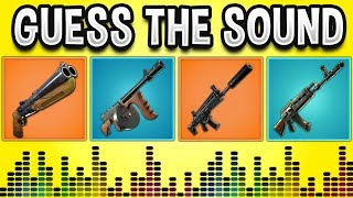 Guess The GUN Sound In FORTNITE BATTLE ROYALE! - Fortnite Quiz #2