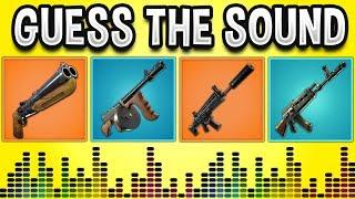 Guess The GUN Sound In FORTNITE BATTLE ROYALE - Fortnite Quiz 2