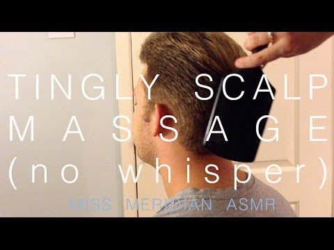 Tingly scalp scratch and shoulder massage (no whisper) | hair-brushing. ASMR.
