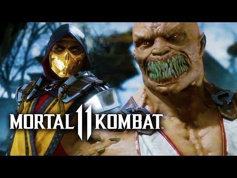 Mortal Kombat 11 First Official Gameplay Reveal - Scorpion vs Baracka   MK11 Reveal Event