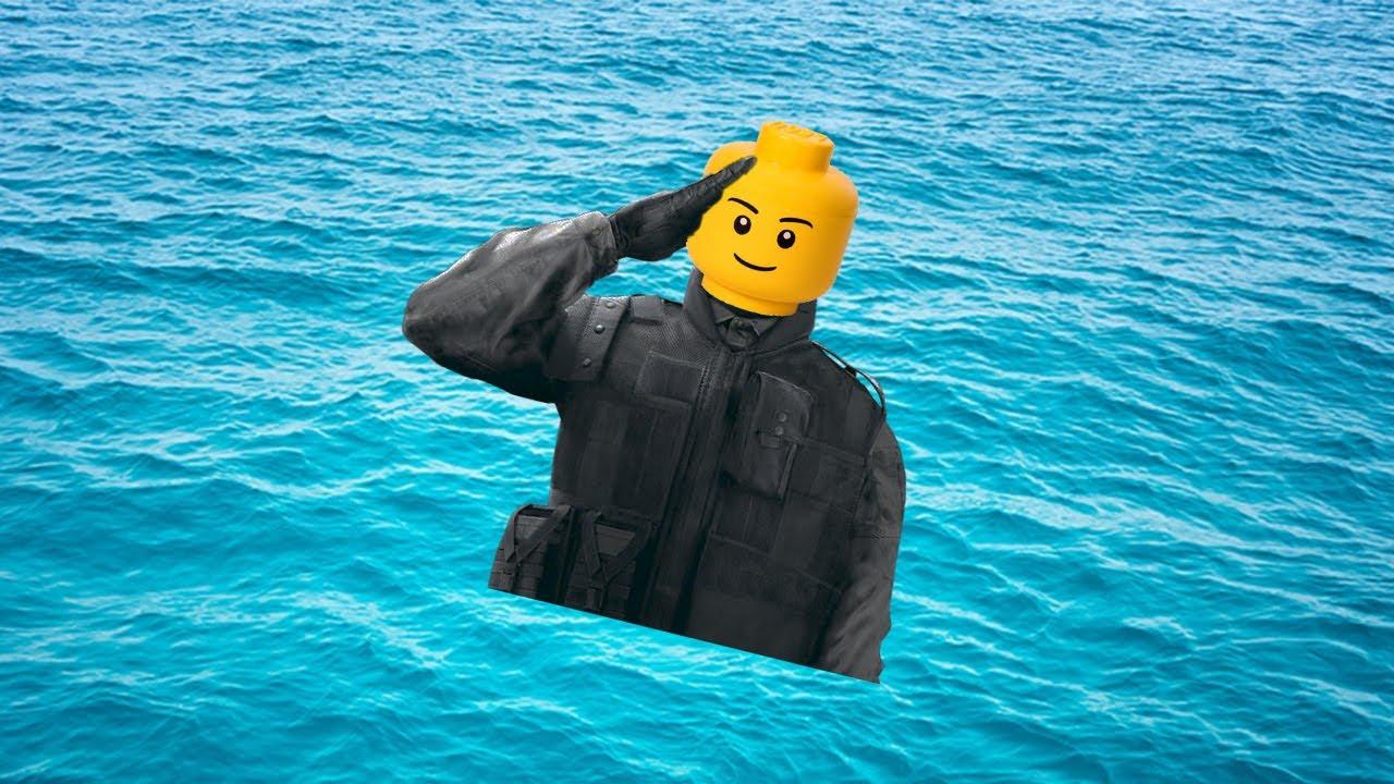 A Recruit has fallen into the Lego City river - YouTube