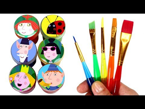 Ben and Holly Drawing & Painting Learn Colors with Ben Elf Princess Holly Wise Old Elf Surprise Toys