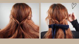 반묶음 예쁘게 묶는방법 /가을겨울헤어스타일 /셀프헤어스…