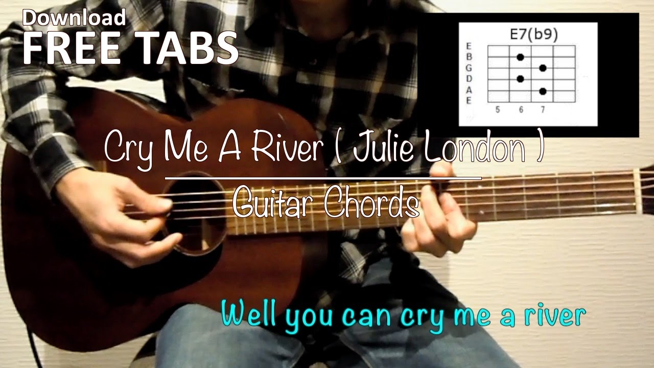 Cry Me A River Julie London Guitar Chords Takashi Terada Youtube