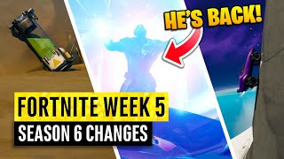Fortnite | All Season 6 Map Updates and Hidden Secrets! WEEK 5 LORE