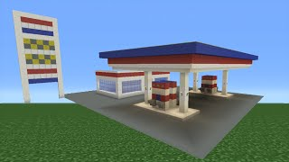 Minecraft Tutorial: How To Make A Petrol (Gas) Station