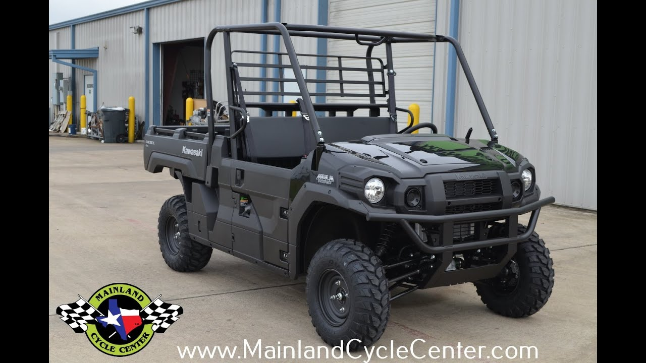 $13,199: 2016 kawasaki mule pro dx diesel super black overview and