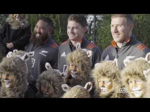 All Blacks come face-to-face with our lions