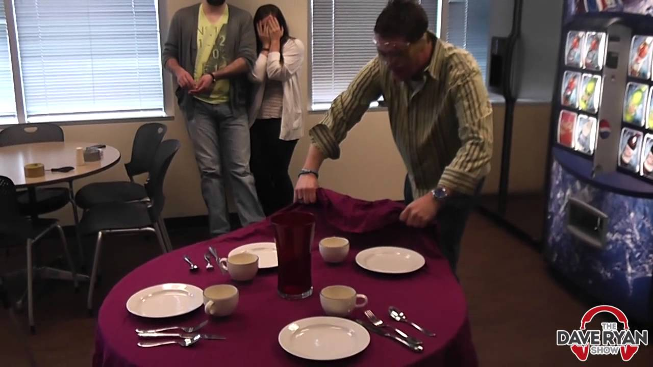Can Dave Pull Off The Tablecloth Trick Youtube