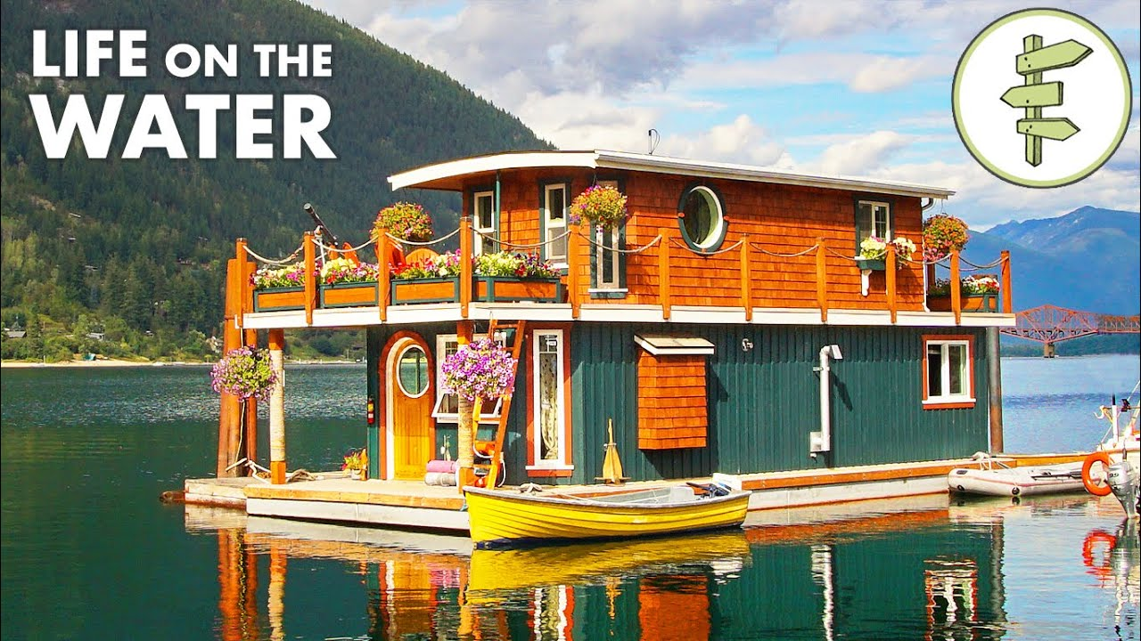 Spectacular FLOATING HOME is Self-Built & Off-Grid