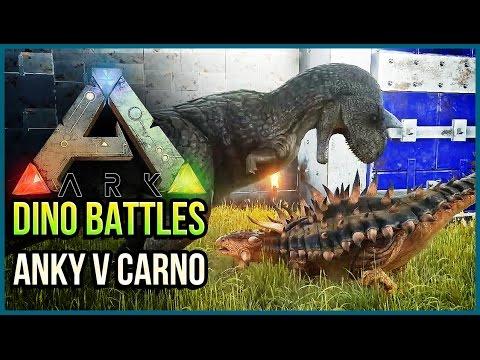 ANKYLOSAURUS VS CARNOTAURUS | ARK Dinosaur Battle Arena