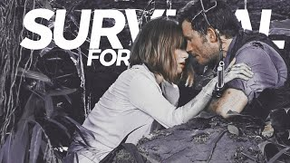 stick together, for survival | jurassic world: claire/owen