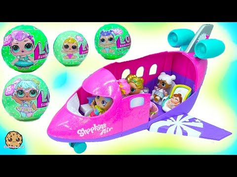 LOL Surprise Big Lil Sisters Blind Bag  Airplane Vacation with Rainbow Kate