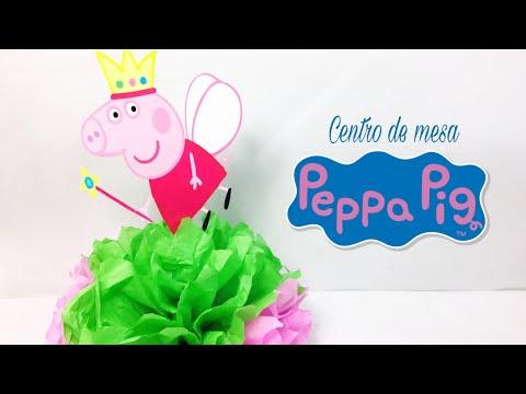 Centro De Mesa Peppa Pig, Fácil 🎈Sabor de Fiesta