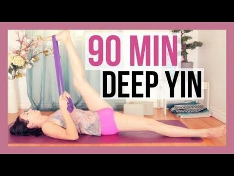 Yin Yoga Full Class - Deep Stretches & Long Holds {90 min}