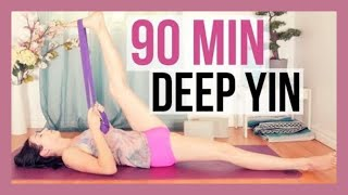 Yin Yoga Full Class - Deep Stretches & Long Holds {90 min}