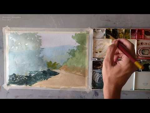 Live Watercolor Painting