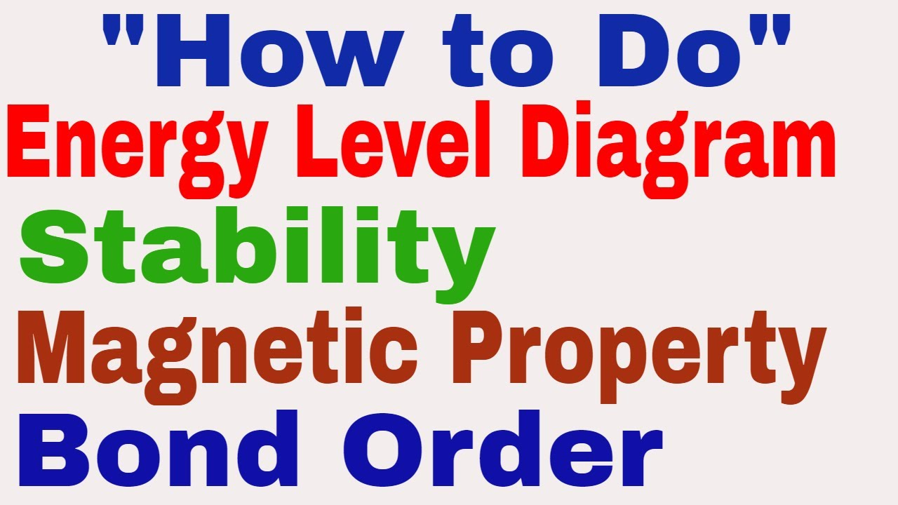 how to make an energy level diagram 22re starter wiring stability bond order magnetic properties