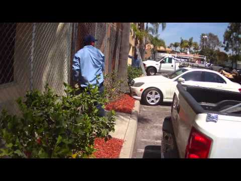 United Site Services - Panel Fence with Privacy Screen Installation