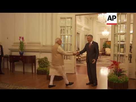 Indian PM Modi discusses maritime security with Singaporean PM Lee