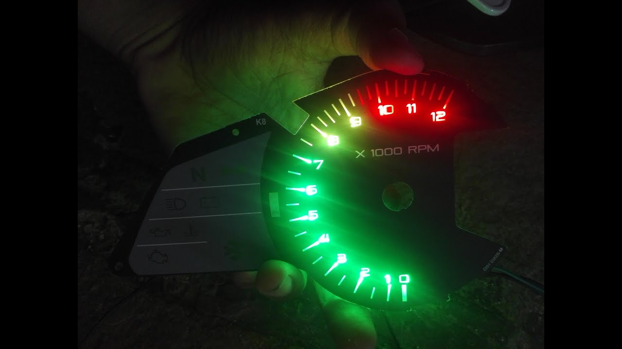 Led tachometer rpm meter shift light arduino installed on