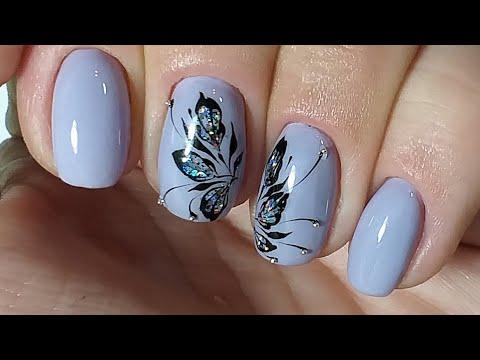 Несложный дизайн ногтей гель