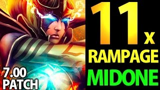 MidOne Dota2 7.00 [PA] Crazy Monster with 11x Rampage | JustWant2PlayAGame