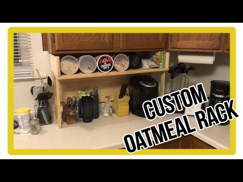 Custom Kitchen Furniture - My Home Built Oatmeal Rack