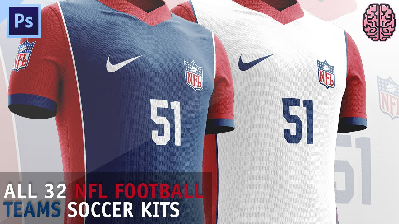 Speed Art: NFL Soccer Kits by Qehzy  YouTube