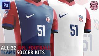 Speed Art: NFL Soccer Kits by Qehzy