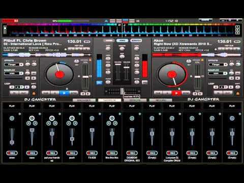 DJ Gangzter Mezclando En Vivo Reggaeton & Electronica Septiembre 2012 [Virtual DJ]