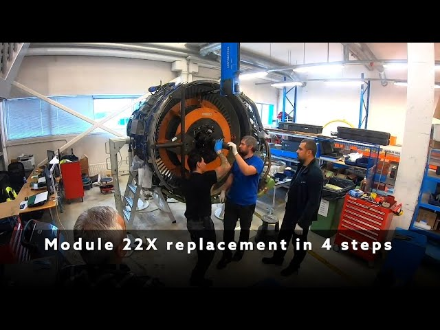 Magnetic MRO - time-lapse of the fan module replacement