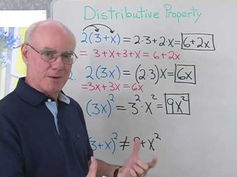 Math Help:  Distributive Property